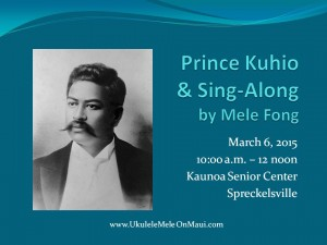 oral history on Prince Kuhio