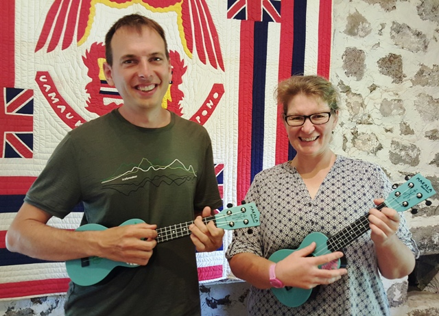 Swiss couple took private lessons from Ukulele Mele