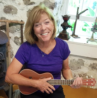 Joan took Ukulele Mele workshop