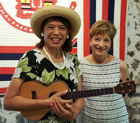 Karen takes lessons from Ukulele Mele