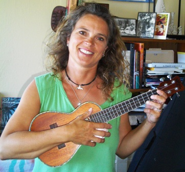 Katerina takes lessons from Ukulele Mele