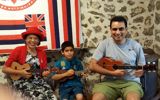 Ukulele Mele teaches small group lessons