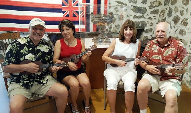 Four friends took lessons from Ukulele Mele