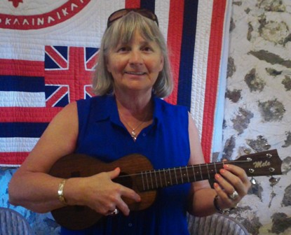 Barbara takes lessons from Ukulele Mele