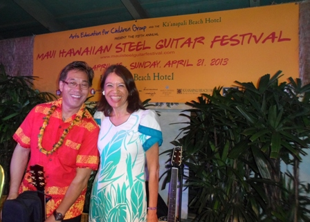 Student at Steel Guitar Fest