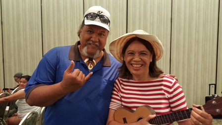 Ukulele Mele gets help from Willie K at 2015 Ukulele Festival