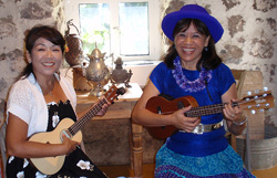 Susie K, ukulele student with Mele on Maui