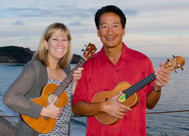 Terri and Robert play ukulele with Mele
